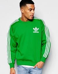 Зеленый oversize-свитшот с фирменной отделкой adidas Originals B10663
