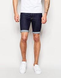 Синие суперзауженные джинсовые шорты ASOS - Indigo - индиго