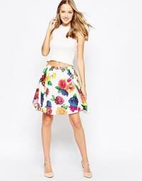 Короткая юбка с цветочным принтом Traffic People Blaz