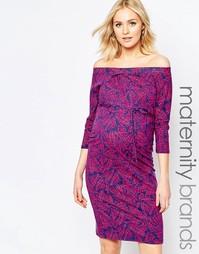 Платье для беременных с широким вырезом Mamalicious Ritana Mama.Licious