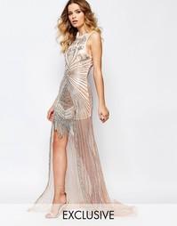 Платье макси с бисерной отделкой по низу A Star Is Born