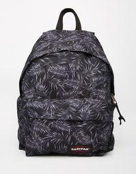 Черный рюкзак с уплотнением и принтом Eastpak Pak'R - Черный