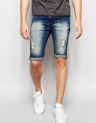 Окрашенные спреем состаренные джинсы Loyalty & Faith - Синий