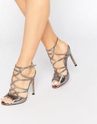 Сандалии на каблуке с вырезами Truffle Collection Helen - Gunmetal