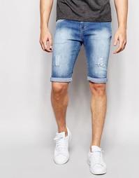 Окрашенные спреем светлые состаренные джинсы Loyalty & Faith - Синий