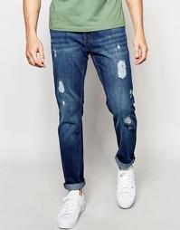 Рваные джинсы классического кроя Threadbare Carter - Синий