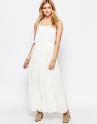 Кружевное платье макси Hazel - Белый