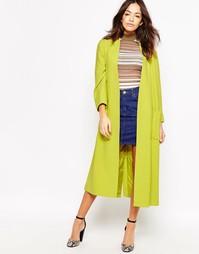 Длинное легкое пальто цвета лайма Helene Berman - Лайм