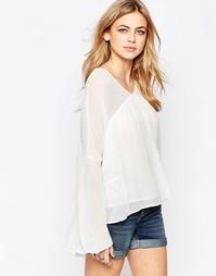 Блузка с длинными рукавами и вставками Hazel - Белый