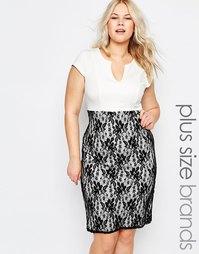 Платье-футляр с кружевной юбкой Praslin Plus