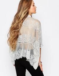 Блузка с кружевной спинкой Japonica - Серый