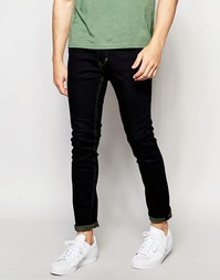 Слегка выбеленные джинсы скинни Threadbare - Синий