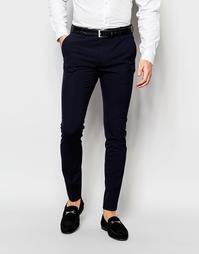 Супероблегающие стретчевые брюки Selected Homme - Темно-синий