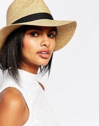 Соломенная шляпа Vero Moda - Черная лента