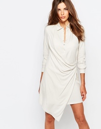 Платье-рубашка с запахом Sisley - 00z