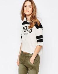 Университетская футболка с рукавами 3/4 Pepe Jeans Donna - 999 черный