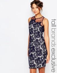 Кружевное цельнокройное платье с фактурной отделкой Little Mistress Ta