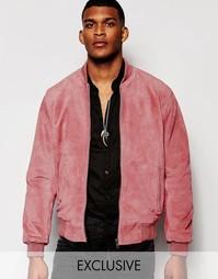 Замшевая куртка-пилот Reclaimed Vintage - Розовый