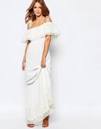 Платье макси с вышивкой Millie Mackintosh - Белый