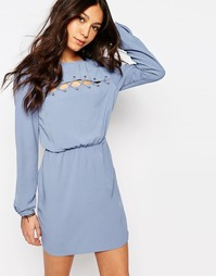 Платье с шнуровкой First & I - Кашемировый синий
