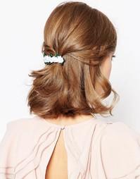 Заколка для волос с цветами ASOS - Белый