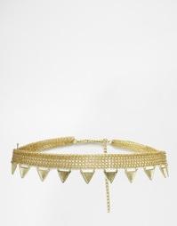 Ремешок-цепочка с треугольниками ASOS - Золотой