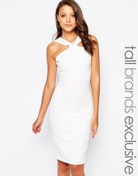 Платье-футляр с отделкой на горловине и узелком Paper Dolls Tall