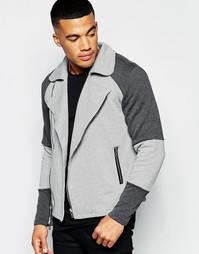 Байкерская куртка из неопрена Jaded London - Серый