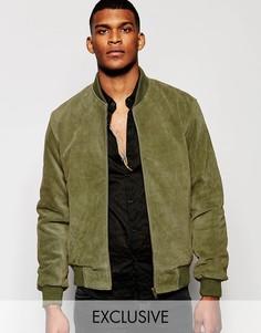 Замшевая куртка-пилот Reclaimed Vintage - Зеленый