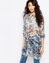 Удлиненная рубашка с принтом Vila Jolie - Принт