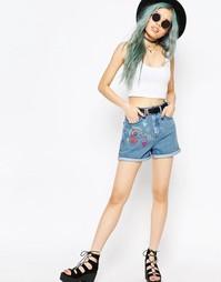 Джинсовые шорты в винтажном стиле ASOS - Выбеленный голубой