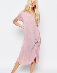 Повседневное платье-рубашка миди ASOS - Розовый