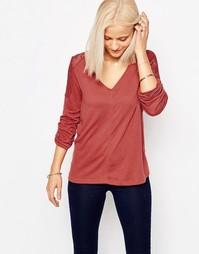 Блузка с V-образным вырезом цвета марсала Only - Марсала