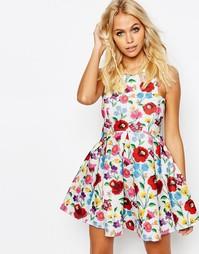 Ажурное платье с цветочным узором Jaded London - Мульти
