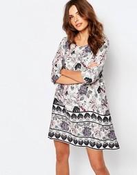 Цельнокройное платье с цветочным принтом Vila - Мульти