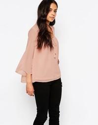 Укороченная блузка с цветочным принтом Only Ewan - Розовый