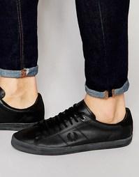 Кожаные кроссовки Fred Perry Howells - Черный