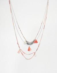 Длинное ожерелье в несколько рядов Pieces Daren - Серебряный