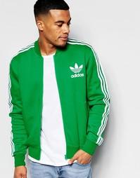 Зеленая спортивная куртка adidas Originals adicolor B10665 - Зеленый