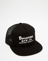 Бейсболка с сетчатыми вставками Brixton Sadler - Черный
