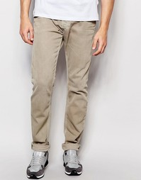 Бежевые эластичные джинсы скинни Diesel Jeans Tepphar 850Y - Бежевый