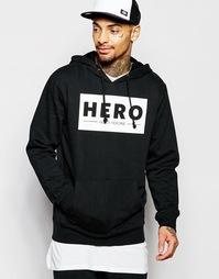 Худи с крупным логотипом Hero's Heroine - Черный