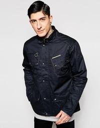 Вощеная хлопковая куртка Ringspun Scramble - Черный