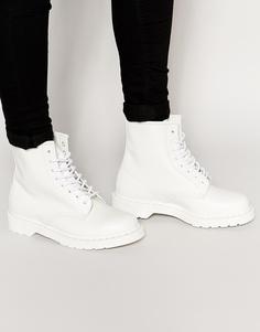Ботинки с 8 парами люверсов Dr Martens Original - Белый