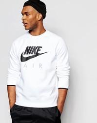 Свитшот с круглым вырезом Nike AW77 727385-100 - Белый