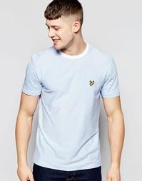Трикотажная футболка в полоску Lyle & Scott - Синий