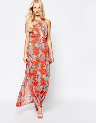 Платье макси с перекрестным дизайном спереди Parisian - Оранжевый