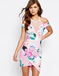 Асимметричное облегающее платье с принтом Ginger Fizz