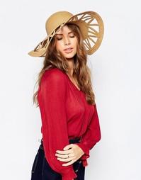 Соломенная шляпа с вырезом на полях Boardwalk - Biscuit