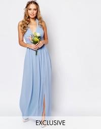 Шифоновое платье макси с завязкой на шее TFNC WEDDING